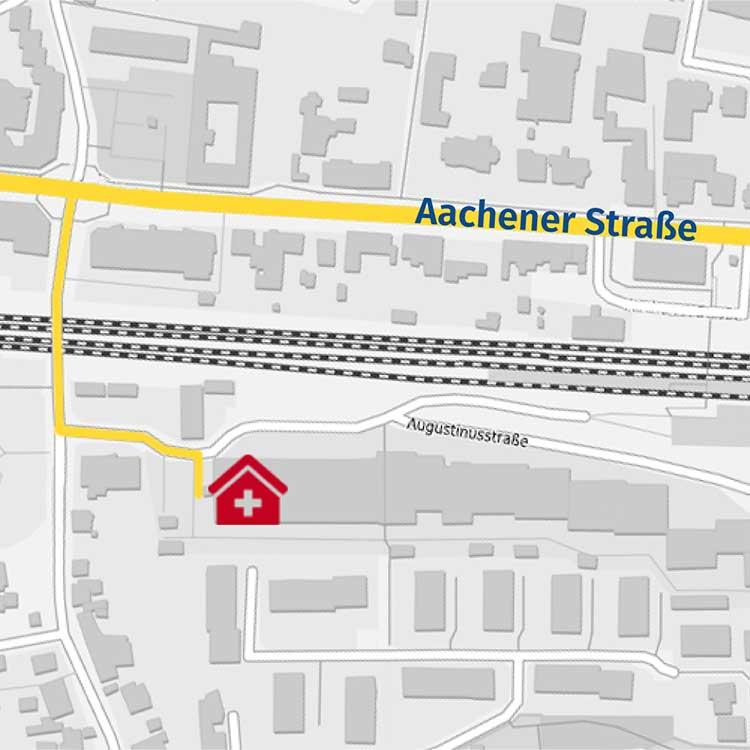 Hauarzt in Königsdorf - Wegbeschreibung mobil